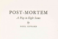 劇本閱讀 (英文) - 《Post Mortem》Noël Coward著