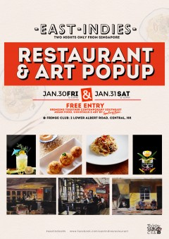Restaurant and Art pop Up Two Nights only from Singapore