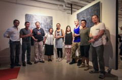 "Exhibition of ""The very happy wonderful celebration of the return of Artist Commune and the 18th anniversary of Hong Kong handover, with cheerful music and songs all over the world"""